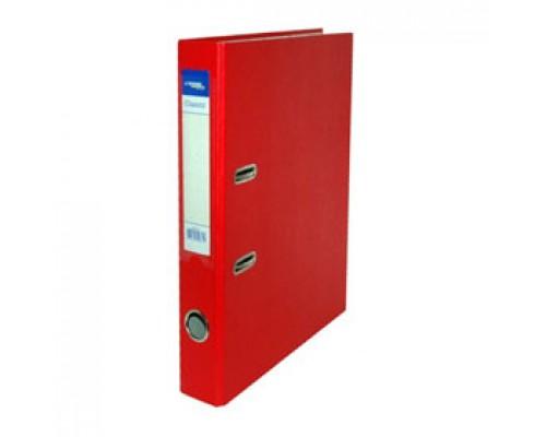 Папка-регистратор А4 Classic, снаружи полипропилен, изнутри бумага, 50мм, красный