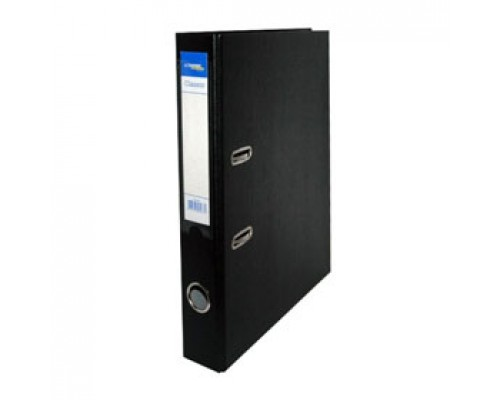 Папка-регистратор А4 Classic, снаружи полипропилен, изнутри бумага, 50мм, черный