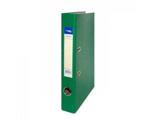Папка-регистратор А4 Classic, снаружи полипропилен, изнутри бумага, 50мм, зеленый