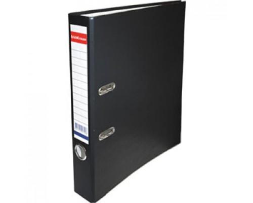Папка-регистратор А4 ERICH KRAUSE, снаружи полипропилен, изнутри бумага, 50мм, металлич. окантовка, черный