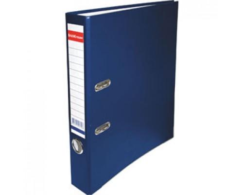 Папка-регистратор А4 ERICH KRAUSE, снаружи полипропилен, изнутри бумага, 50мм, металлич. окантовка, синий