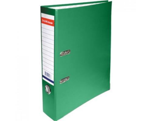 Папка-регистратор А4 ERICH KRAUSE, снаружи полипропилен, изнутри бумага, 50мм, металлич. окантовка, зеленый