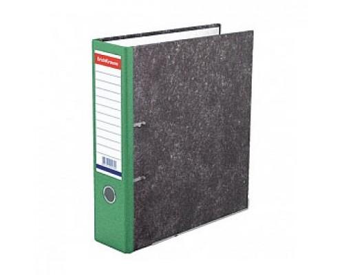 Папка-регистратор А4 ERICH KRAUSE, снаружи и изнутри картон, 70мм, мрамор, корешок зеленый