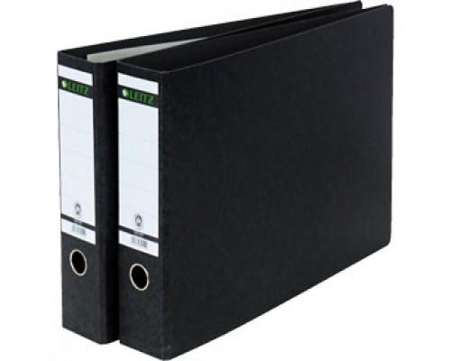 Папка-регистратор A3 LEITZ, ламинированный картон, 77мм, горизонтальный, альбомный, черный