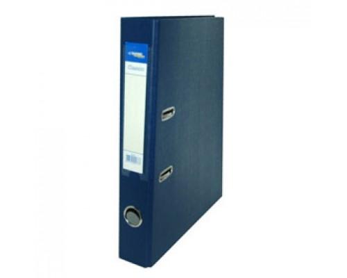 Папка-регистратор А4 Classic, снаружи полипропилен, изнутри бумага, 80мм, синий