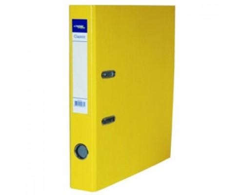 Папка-регистратор А4 Classic, снаружи полипропилен, изнутри бумага, 80мм, желтый