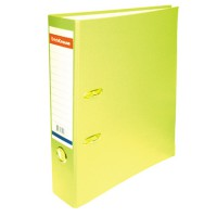 Папка-регистратор А4 ERICH KRAUSE, снаружи полипропилен, изнутри бумага, 70мм, металлич. окантовка, желтый