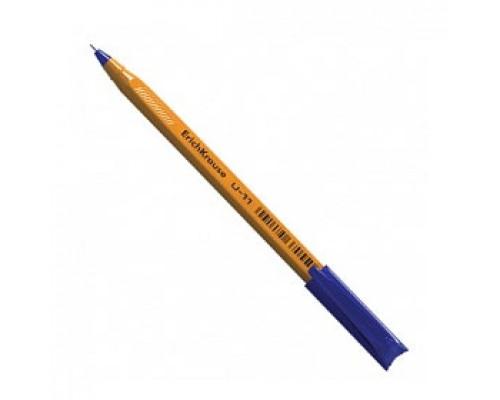 Ручка шариковая одноразовая ERICH KRAUSE Ultra Glide Technology U-11, трехгранный желтый корпус, синий