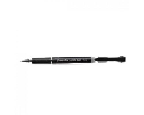 Ручка шариковая AVANTRE Enite Ball, с резин. держателем, черный