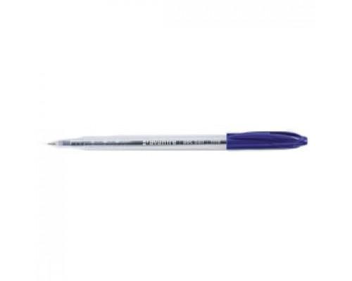Ручка шариковая AVANTRE ABC, прозрач. корпус, синий