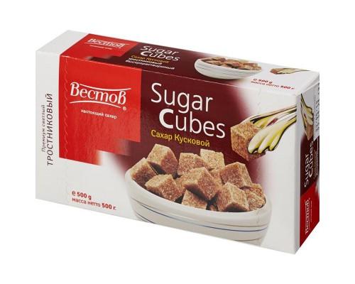 Сахар кусковой Вестов тростниковый 500 г