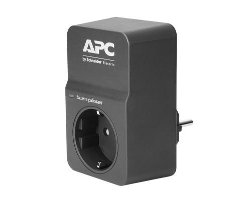 Сетевой фильтр APC PM1W(B)-RS (1 евро/16А/918Дж/черный)