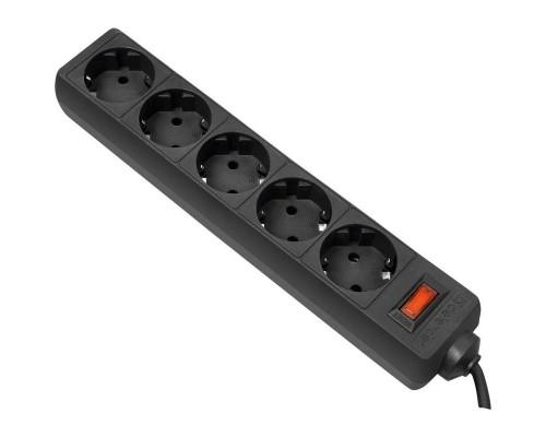 Сетевой фильтр Defender ES (5/1,8м/10А/125Дж/черный)