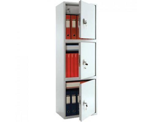 Шкаф для бумаг ПРАКТИК SL-150/3T, 1490х460х340, 3 отделения, ключевой замок.