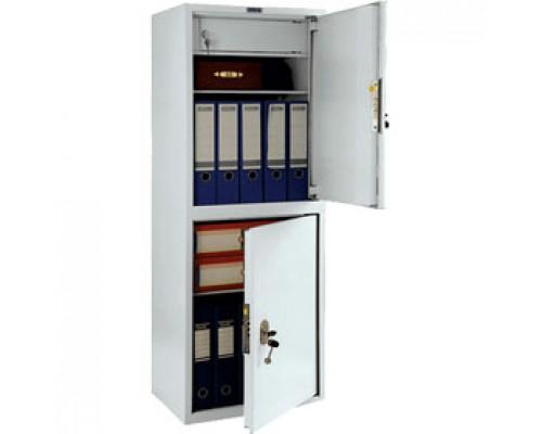 Шкаф для бумаг ПРАКТИК SL-125/2T, 1252х460х340, 2 секции, ключевой замок.
