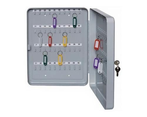 Шкаф для 40 ключей 200х160х80мм, серый