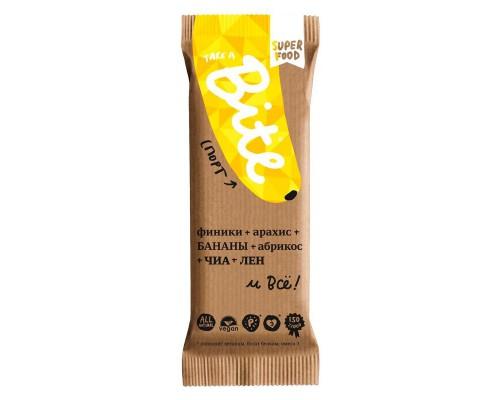 Батончик Bite Фруктово-ореховый Арахис-Банан, спорт (20 баточников по 45 г)