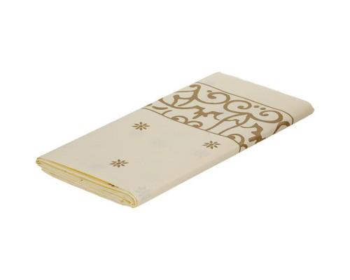Скатерть Gold бумажная бежевая 120x180 см