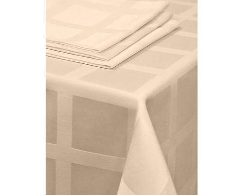 Салфетка набор 5 штук Журавинка Рис1 35х35 бежевая пропитка гряземаслооталкивающая