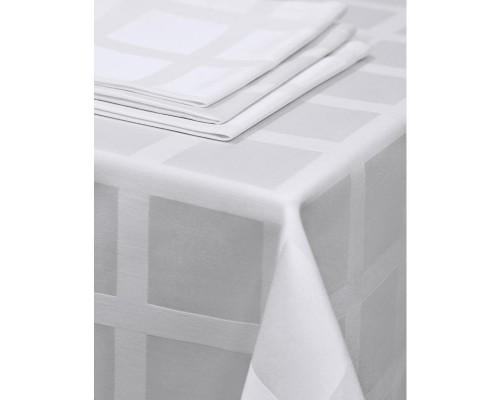 Салфетка набор 5 штук Журавинка Рис1 35х35 белая пропитка гряземаслооталкивающая