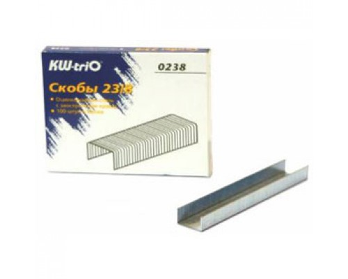 Скобы для степлера №23/8 KW-TRIO, 1000шт., до 50л.