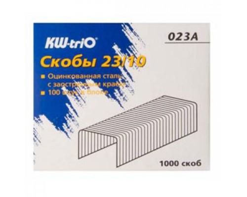 Скобы для степлера №23/10 KW-TRIO, 1000шт., до 70л.