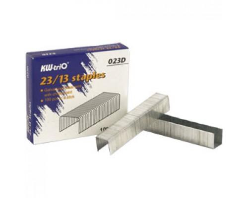 Скобы для степлера №23/13 KW-TRIO, 1000шт., до 100л.