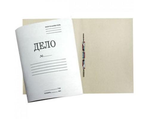 """Папка-скоросшиватель """"Дело"""" 280г/м2 мелован. картон, белый"""