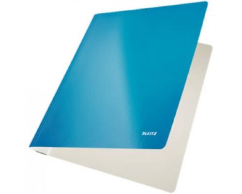 Папка-скоросшиватель Leitz WOW ламинир. картон, голубой