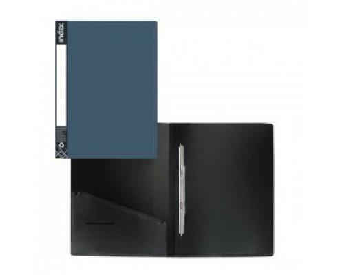 Папка-скоросшиватель с пружинным механизмом, Metallic синий
