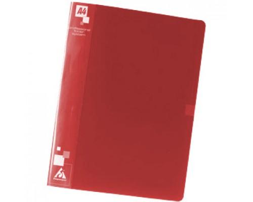 Папка-скоросшиватель с пружинным механизмом + карман, красный