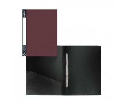 Папка-скоросшиватель с пружинным механизмом, Metallic бордо