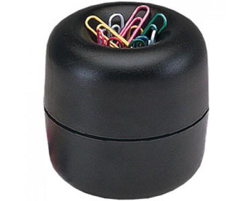 Скрепочница-стаканчик ERICH KRAUSE, магнитная, со скрепками, черный