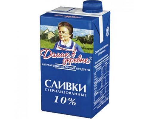 Сливки Домик в Деревне натуральные, жирность 10%, 470г