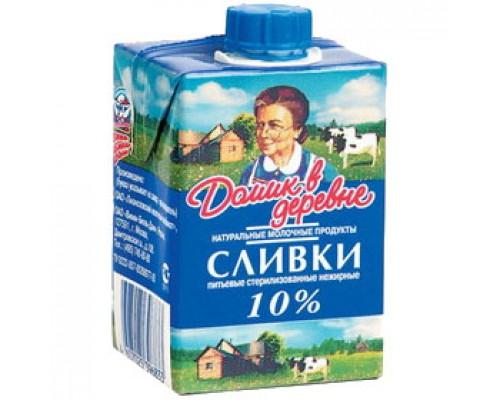 Сливки Домик в Деревне натуральные, жирность 10%, 200г