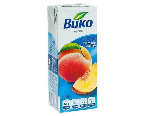 Нектар Вико персик 0.2 л (6 штук в упаковке)