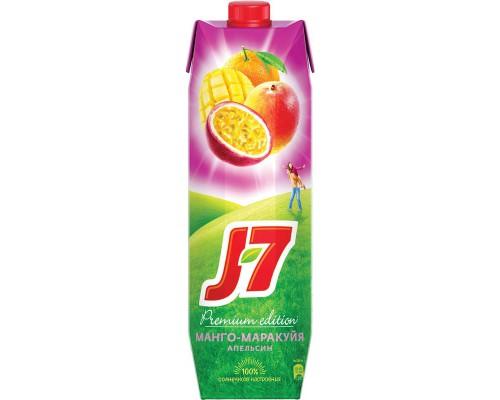 Нектар J7 апельсин/манго/маракуйя с мякотью 0.97 л