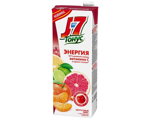 Нектар J7 Тонус цитрус 1.45 л
