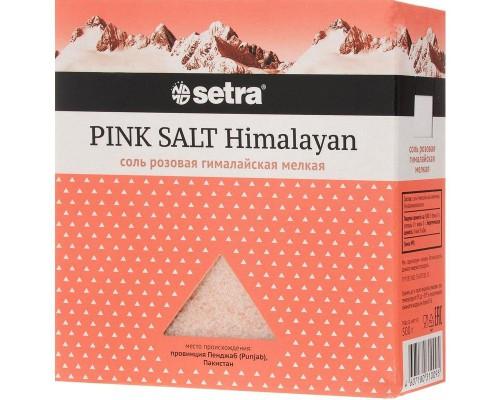 Соль Setra розовая гималайская мелкая 500 г