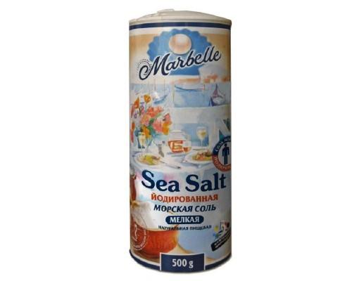 Соль морская Marbelle йодированная, 500гр