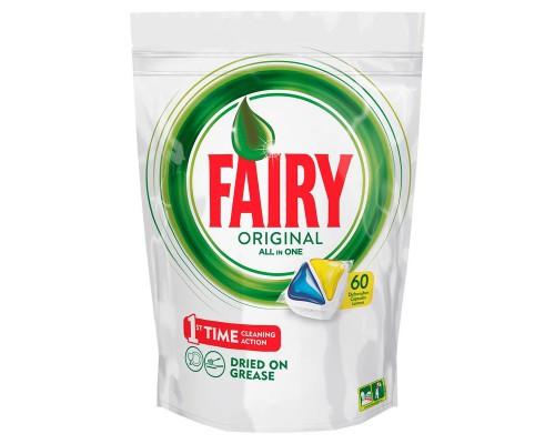 Капсулы д/посудомоечных машин FAIRY All in 1 Лимон 60шт/уп