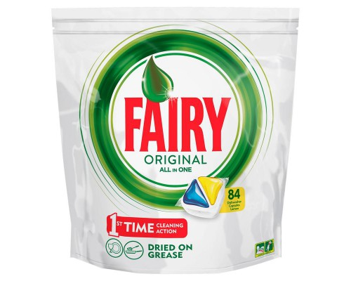 Капсулы д/посудомоечных машин FAIRY All in 1 Лимон 84шт/уп
