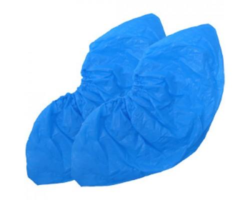 Бахилы полиэтиленовые 15х40см 50 пар., голубой