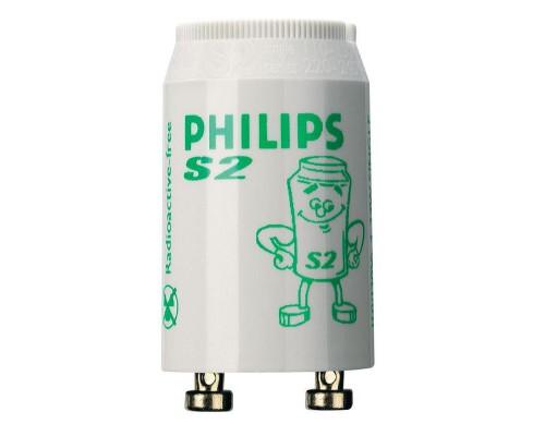 Стартер для люминесцентных ламп Philips S2 4-22 Вт 220-240 В 25 штук в упаковке (двухламповая схема подключения)