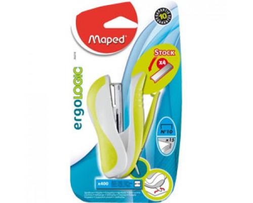Степлер 10 15л., MAPED Ergologic Pocket, ассорти