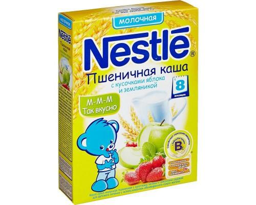 Каша Nestle молочная, пшен.-земляника-яблоко, 250 г.