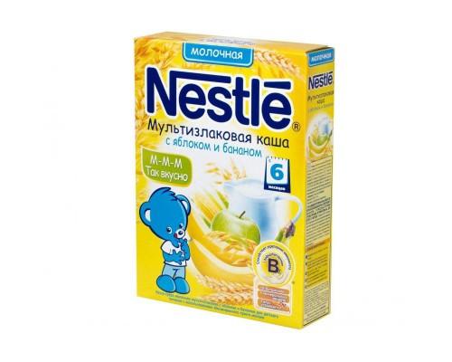 Каша Nestle молочная, мультизлаки-яблоко-банан, 250 г.