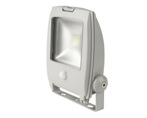 Прожектор светодиодный 10 Вт с датчиком движения холодный белый свет