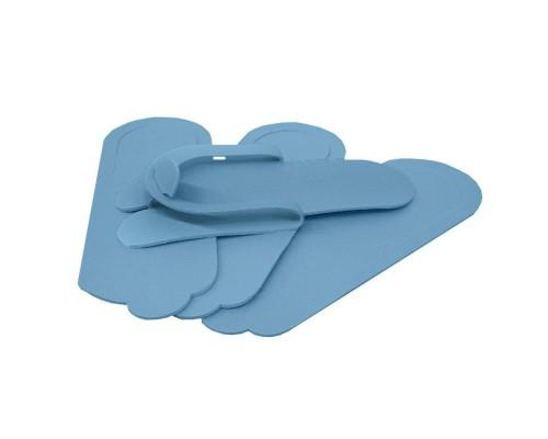 Тапочки одноразовые процедурные D-4 подошва ППЭ 4 мм голубые (150 пар в упаковке)