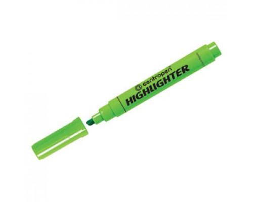 Текстовыделитель CENTROPEN Highlighter 1-5мм, зеленый